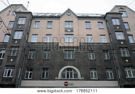 Riga, Terbatas 4-8. Quarter in the style of art nouveau.