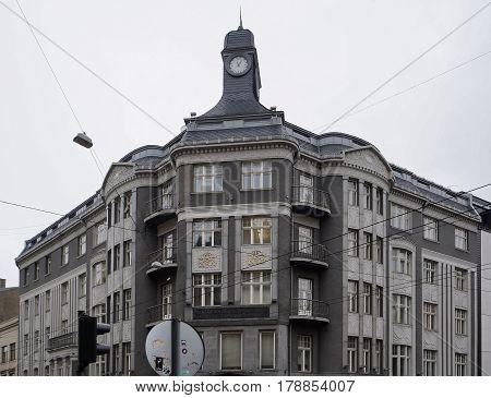 Riga, Terbatas 14, Art Nouveau, Art Deco, architect Constantin Peckshens.