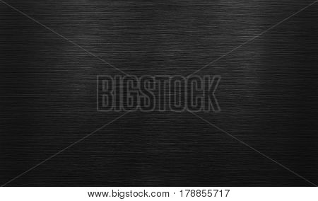 black polished aluminum background. Stainless steel texture