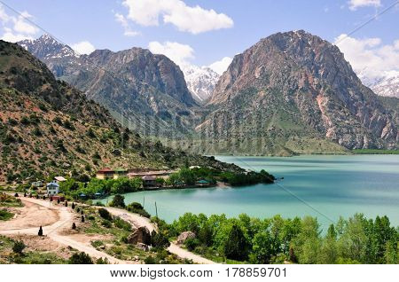 Iskanderkul is a mountain lake of glacial origin in Tajikistan's Sughd Province.
