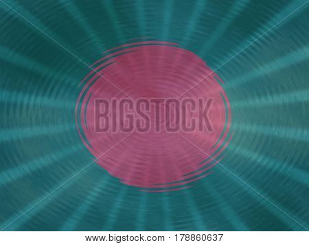 Bangladesh flag background with ripples and rays illustration