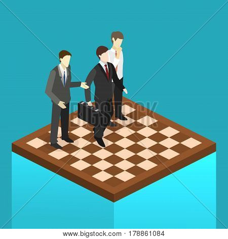 Isometric Flat 3D Isolated Concept Vector Orporate Business Market Strategy.