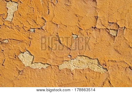 Obsolete grungy orange background of natural cement or stone old texture as pattern wall