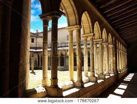 A sunny summer day in the cloister