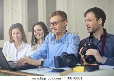 Photographers in the studio