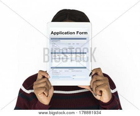 Graphic of application form blank detail information