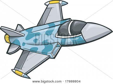 Jet Fighter Vector Illustration