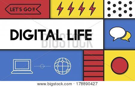 Digital Life Modern Technology Concept