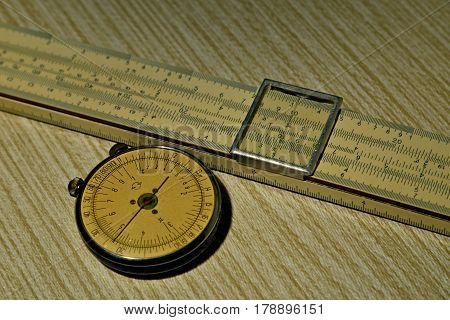 Logarithmic ruler, an ancient computer and a forgotten assistant engineer for serious calculations