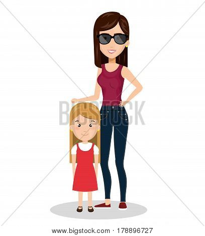 family members on vacations vector illustration design