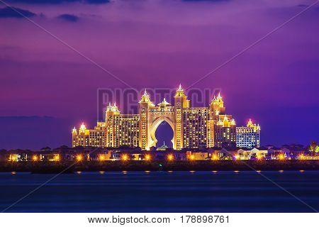 Atlantis Hotel  In Dubai. Uae. November 17, 2012