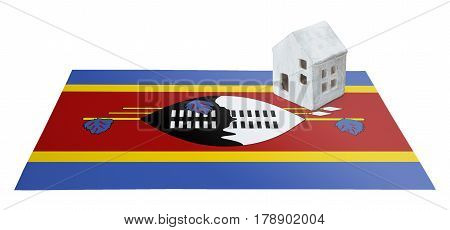 Small House On A Flag - Swaziland