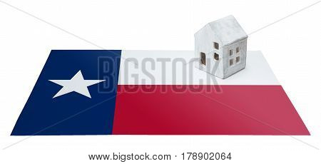 Small House On A Flag - Texas