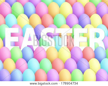Easter Eggs Background Cartoon Style Smooth Colors 2