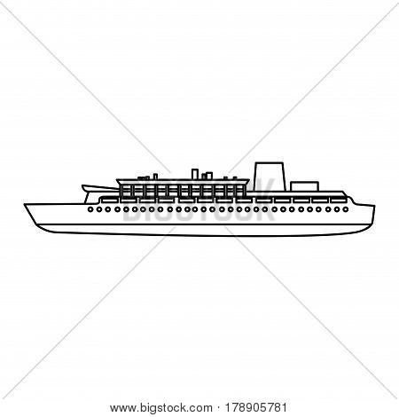 figure ship maritime transpotation, vector illustration design