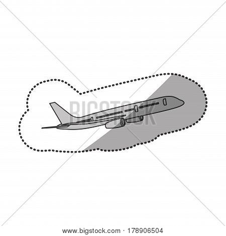 contour fly airplane transportation, vector illustration design contour fly airplane transportation, vector illustration design