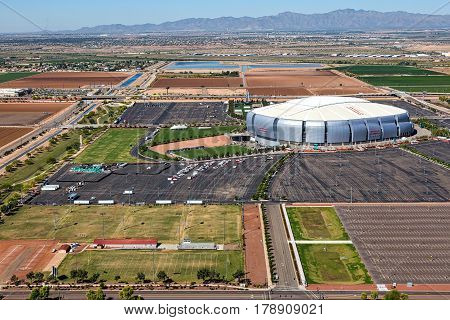 Glendale Arizona-March 27 2017-The NCAA Final Four arrives in the Valley of the Sun this week with events in Phoenix and games held at the University of Phoenix stadium in Glendale.