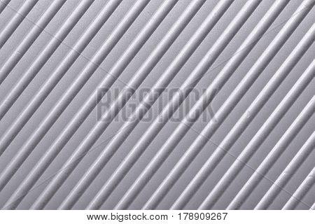 highly detailed corrugated metallic background diagonal orientation