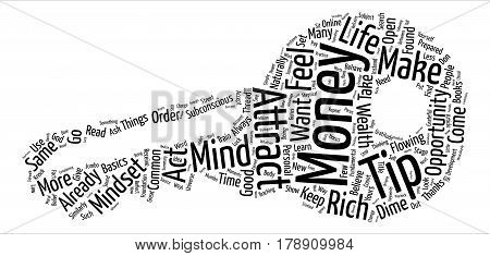 Mindset To Attract Money text background word cloud concept