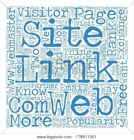 Minutes Free Report Reveals The Arts Of Link Exchange text background word cloud concept poster