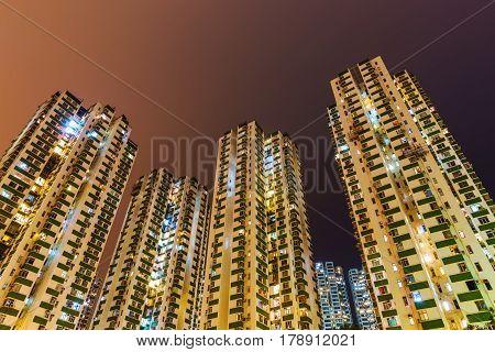 Skyscrapers At Causeway Bay, Hong Kong, At Night