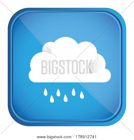 colorful square frame and blue background with cloud with drizzle vector illustration