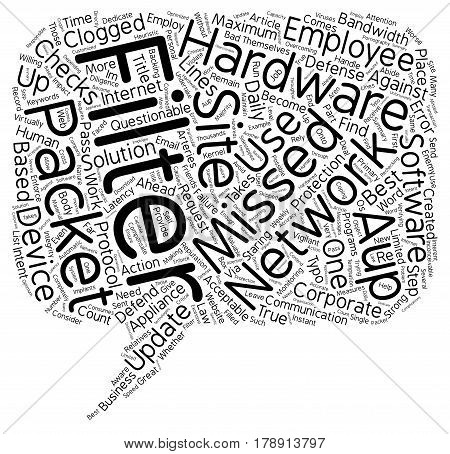 Missed Packets The Enemy of Your AUP text background wordcloud concept