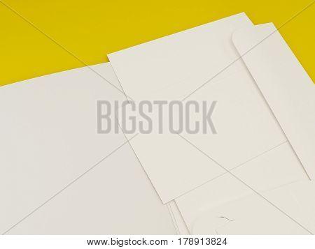 3D Illustration of Stationary set on color background