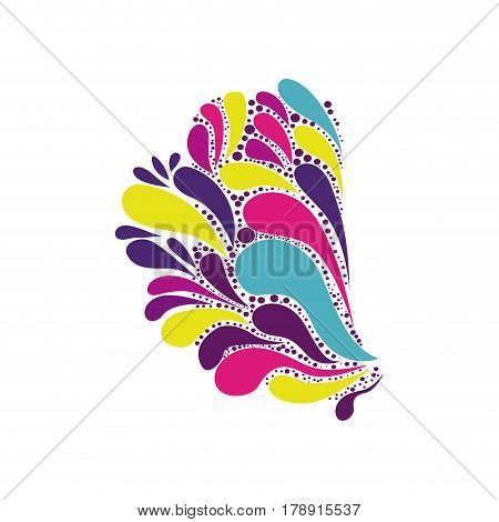 abstract colorful arc-drop half silhouette vector illustration