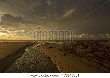 Tropical sunset on the beach, Labuan F.T, Malaysia