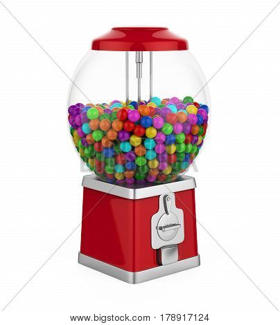 Candy Gumball Machine isolated on white background. 3D render