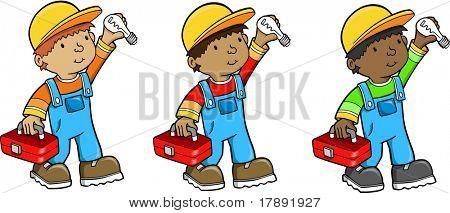 Construction Worker Vector Illustration