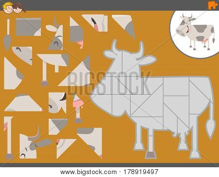Jigsaw Puzzle Game With Cow