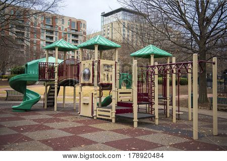 A kids play area in the heart of the city