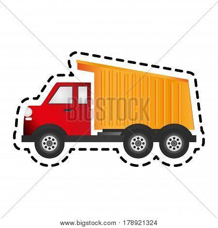 dump truck icon image vector illustration design