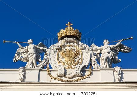 Angels Glorifying Austrian Insignia Of Power
