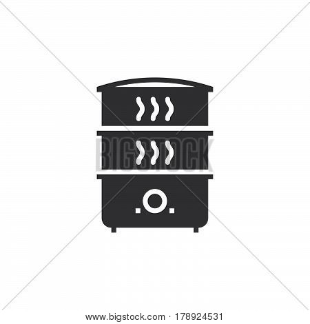 Electric Food Steamer icon vector solid flat sign pictogram isolated on white logo illustration