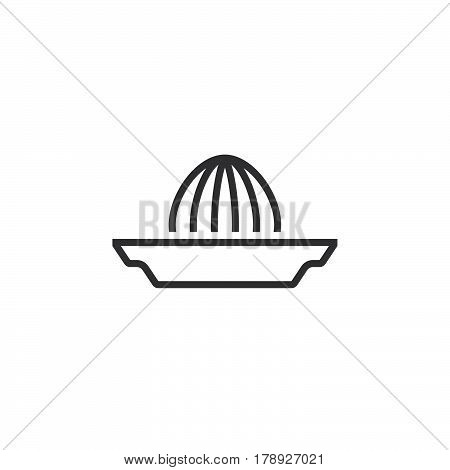 Citrus squeezer line icon Juice Extractor outline vector sign linear pictogram isolated on white. logo illustration
