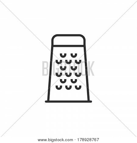 Food Grater line icon outline vector sign linear pictogram isolated on white. logo illustration