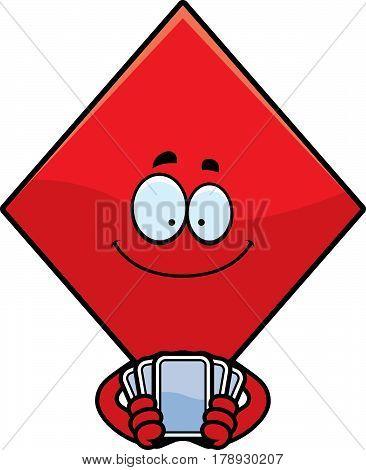 Cartoon Diamond Playing Cards