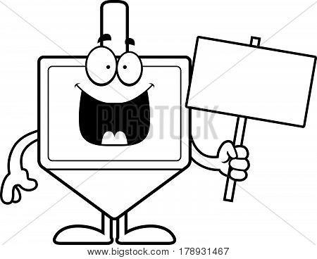 Cartoon Dreidel Sign