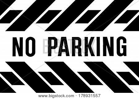 A designed roadside banner for the prevention of any vehicle parking where prohibited.