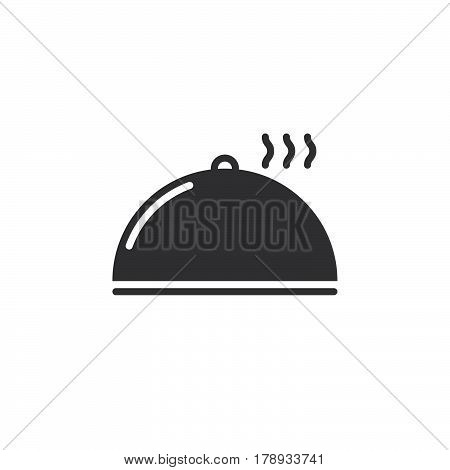 Cloche Plate Cover icon vector solid flat sign pictogram isolated on white logo illustration