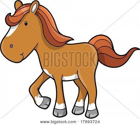 Horse Pony Vector Illustration