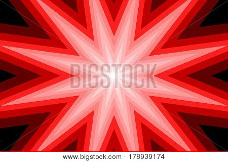star - abstract geometric red background ,