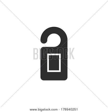 door hanger icon vector filled flat sign solid pictogram isolated on white logo illustration