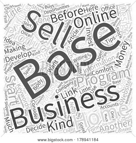 Online Home Based Business Opportunities Making Money In The Comfort Of Your Own Home Word Cloud Concept