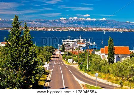 Island Of Ugljan Ferry Port And Zadar View
