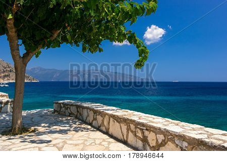 Kefalonia beach and Ionian sea in the Greece