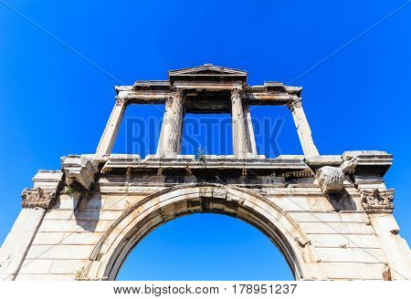 Handrian arch - Zeus temple in Athens Greece